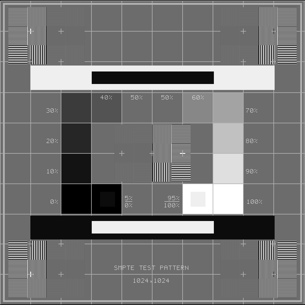 SMPTE Diagnostic Image Test Pattern